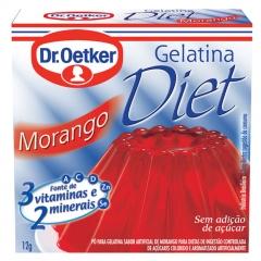 GELATINA DR OETKER DIET MORANGO  12gr (547)